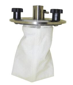 Compressed air venturi loader for plastics bag filter