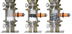 Compressed air venturi loader for plastics blend on the machine