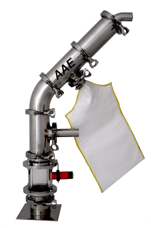 Compressed air venturi loader that removes dust CAD2