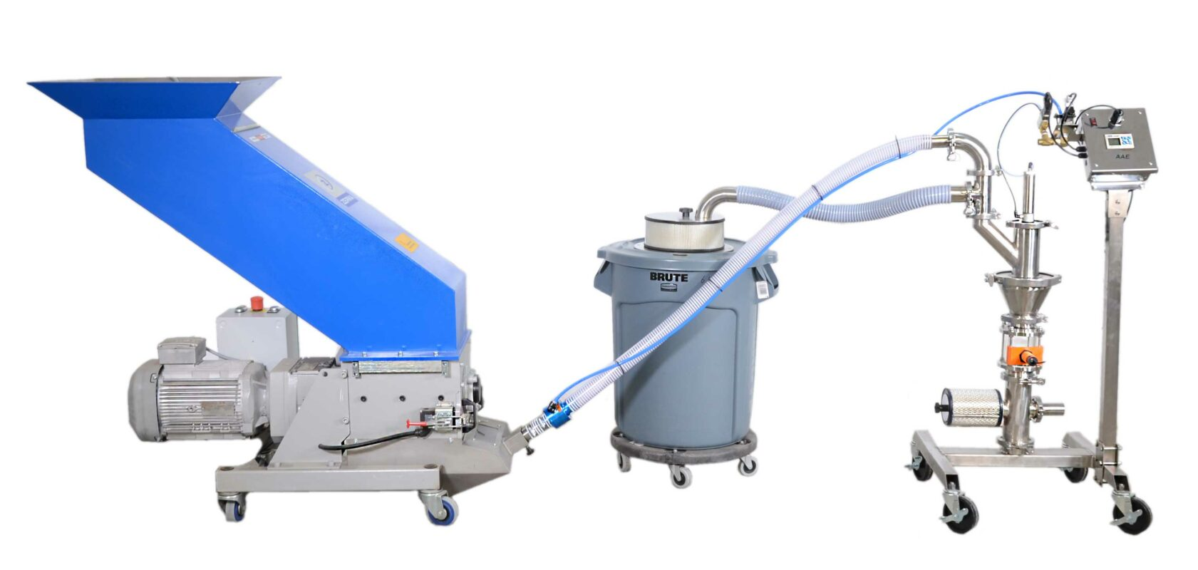 LIFO Granulator by-pass unloading system