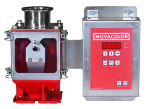 Movacolor color feeder with control bracket