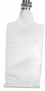 Open bottom bag filter